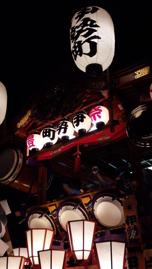 平成28年度、熊谷うちわ祭 伊勢町區屋台、見納め。