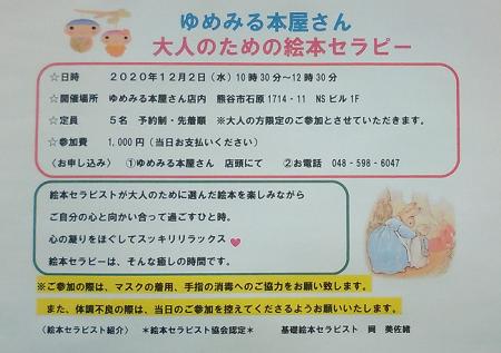 【要予約】2020.12.2大人のための絵本セラピー